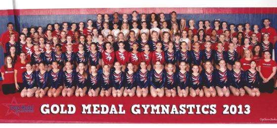 Gold Medal Gymnastics Team 2013
