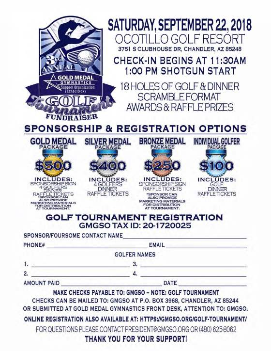 reduced 2018 3rd Annual Flyer GolfTournament